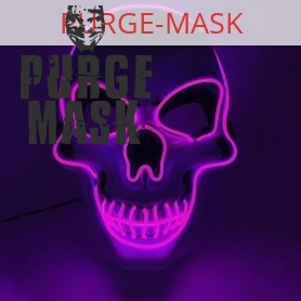 purple skull led purge mask
