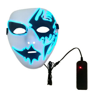 remote controler ghost blue led mask