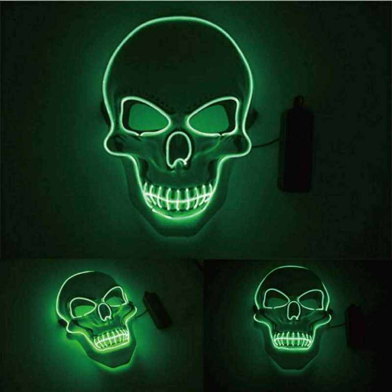 remote controller for the led purge mask skull green