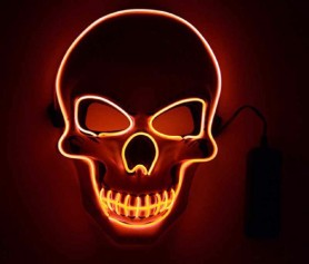 skull orange purge mask that light up with a remote controller