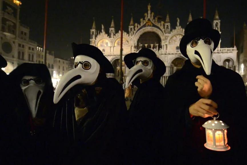 the black death carnival in venice