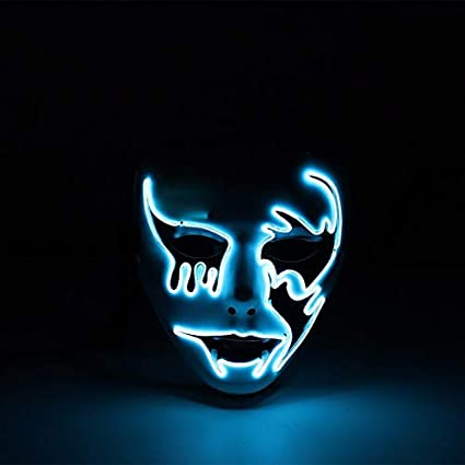 the blue ghost glow up mask