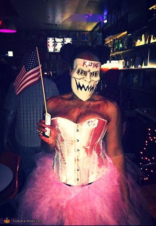 Kiss Me Purge Mask The Girl Outfit For Election Year