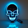 the purge mask led blue skull