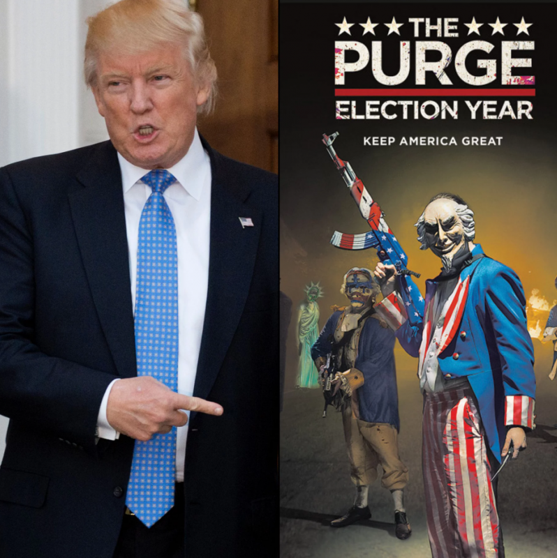 trump with the purge movie election year keep america great