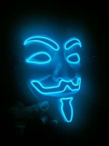 The Purge V Is For Vendetta Mask Blue LED That Light Up