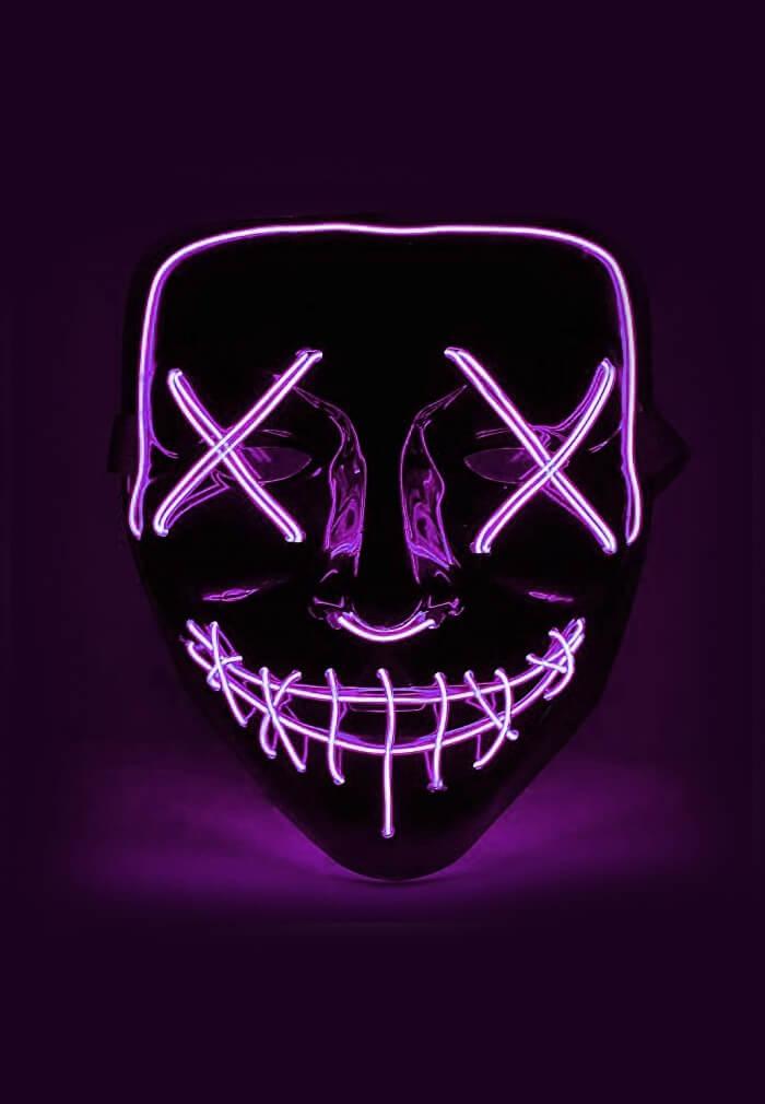 violet led purge mask