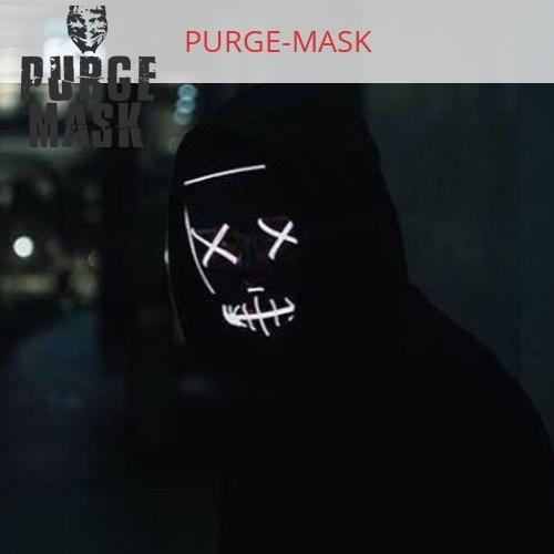 white purge mask light up