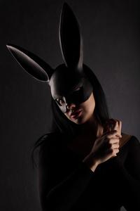 women black rabbit purge mask