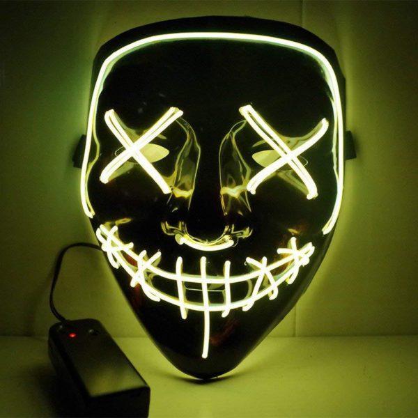yellow led purge mask