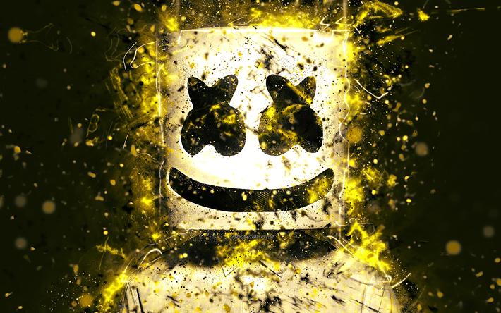 yellow marshmello mask